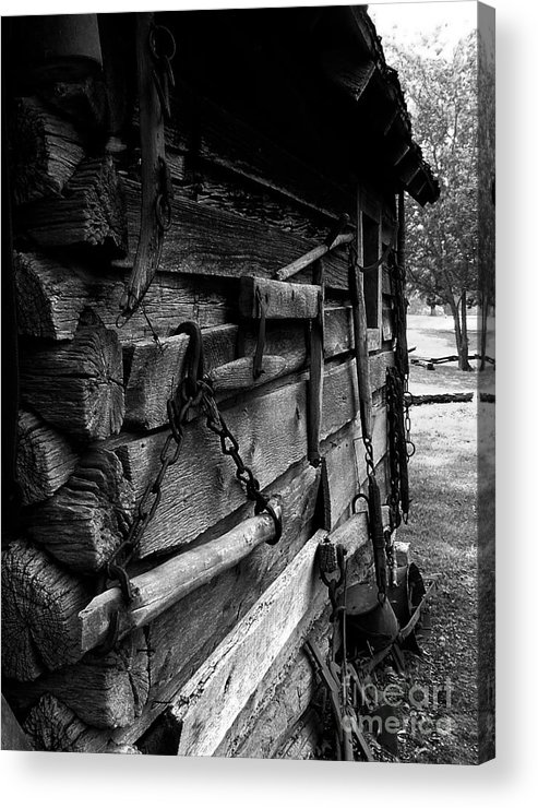 Log Cabins Acrylic Print featuring the photograph Cabin Wall II by Julie Dant