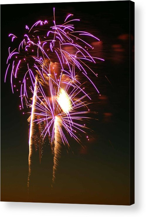 Fireworks Acrylic Print featuring the photograph Purple Trees by Optical Playground By MP Ray