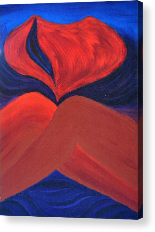 Daina Acrylic Print featuring the painting Silent She Emerges by Daina White