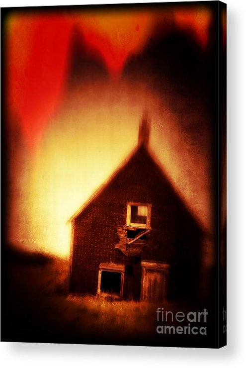 Scary Acrylic Print featuring the photograph Welcome To Hell House by Edward Fielding