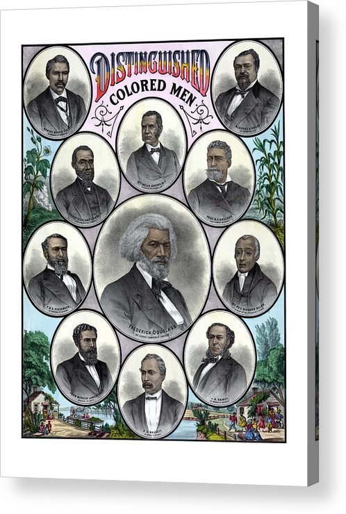 Black History Acrylic Print featuring the painting Distinguished Colored Men by War Is Hell Store