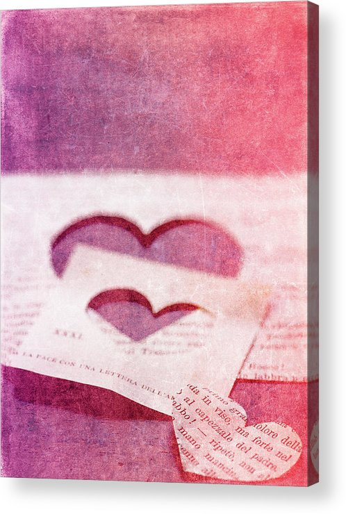 Hearts Acrylic Print featuring the photograph Lost Hearts by Rebecca Cozart