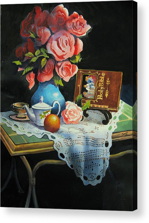 Stillife Acrylic Print featuring the painting Tea Time by Robert Carver