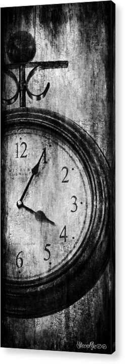 Clock Acrylic Print featuring the digital art Time by Sheena Pike