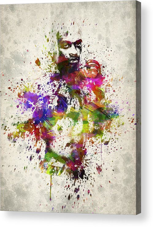 Anderson Silva Acrylic Print featuring the drawing Anderson Silva by Aged Pixel