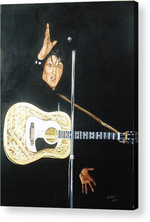 Elvis Presley Acrylic Print featuring the painting Elvis 1956 by Bryan Bustard