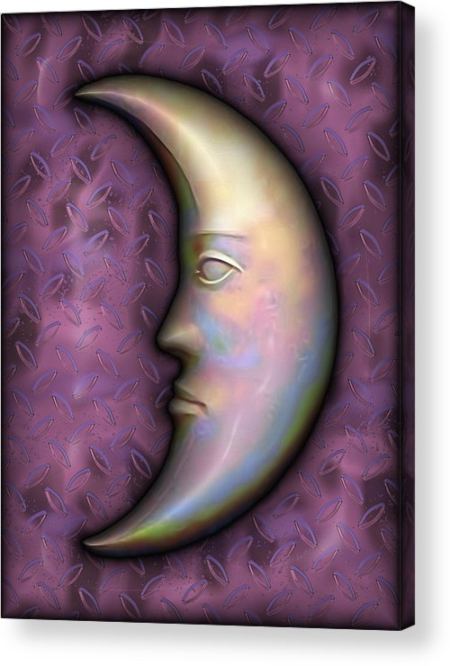 Moon Acrylic Print featuring the digital art I See The Moon 2 by Wendy J St Christopher
