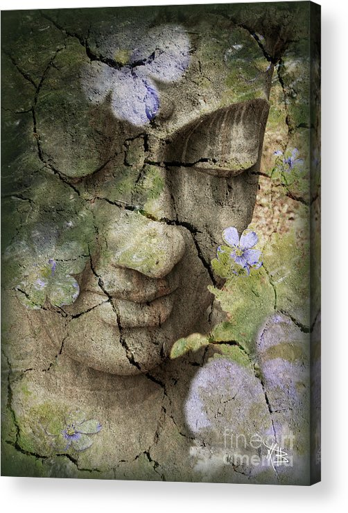 Buddha Acrylic Print featuring the mixed media Inner Tranquility by Christopher Beikmann