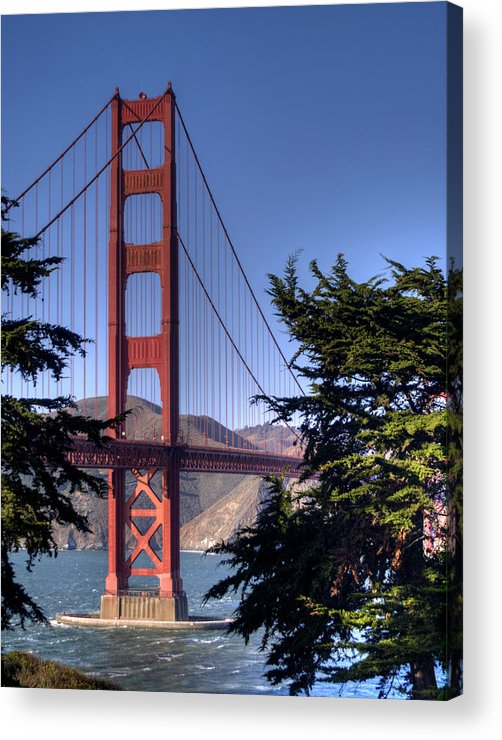 Golden Gate Bridge Acrylic Print featuring the photograph South Tower by Bill Gallagher