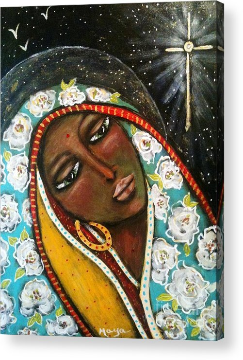 Christmas Acrylic Print featuring the painting The First Noel by Maya Telford