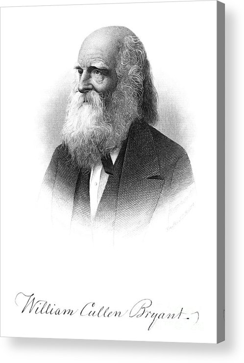 19th Century Acrylic Print featuring the photograph William Cullen Bryant by Granger
