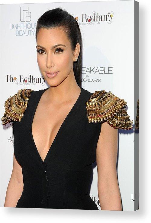 Kim Kardashian Acrylic Print featuring the photograph Kim Kardashian Wearing An Alexander by Everett