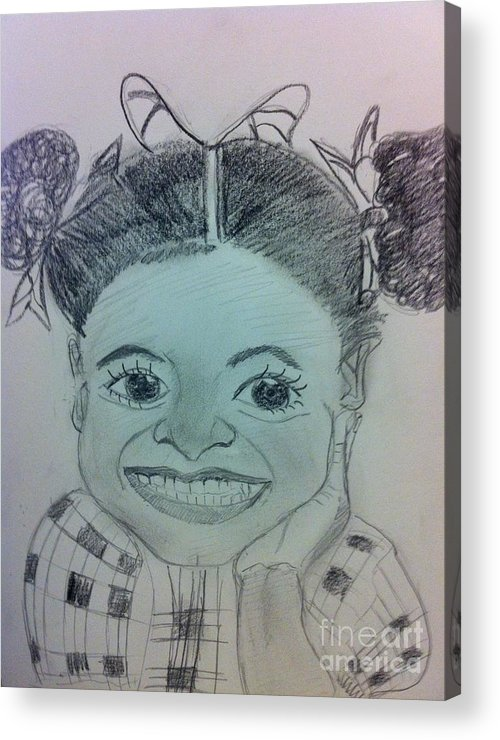 Missing Child And Death Acrylic Print featuring the drawing The Late Jahessye Shockley by Charita Padilla