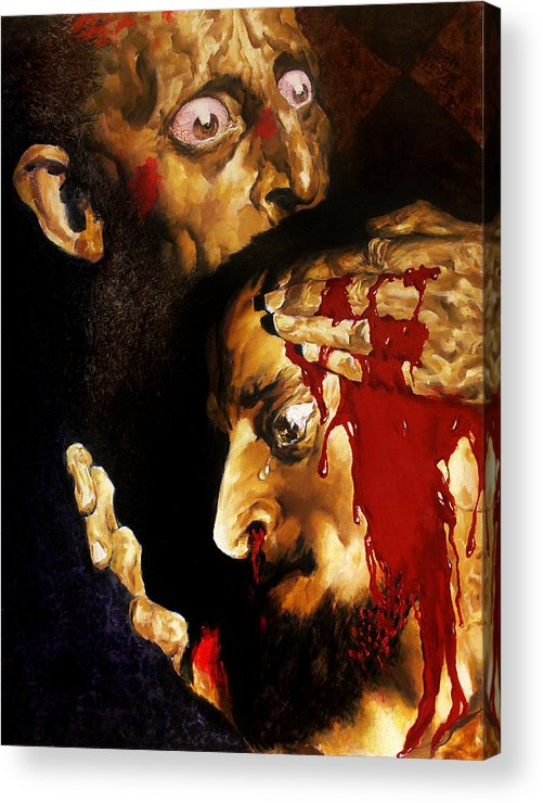 Man Acrylic Print featuring the painting Ivan D by Valeriy Mavlo