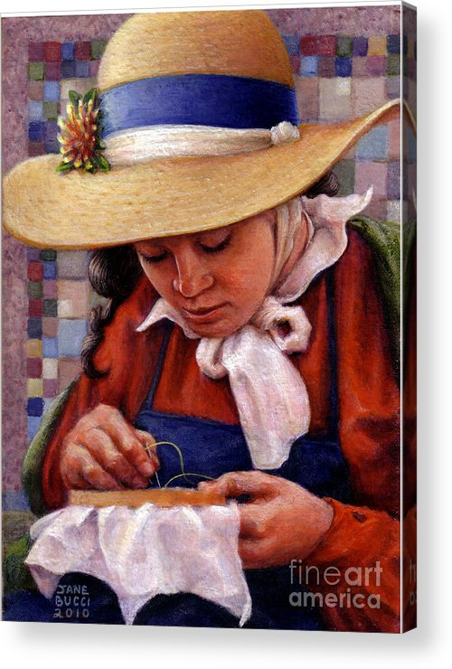 Occupy China Acrylic Print featuring the painting Stitch In Time by Jane Bucci