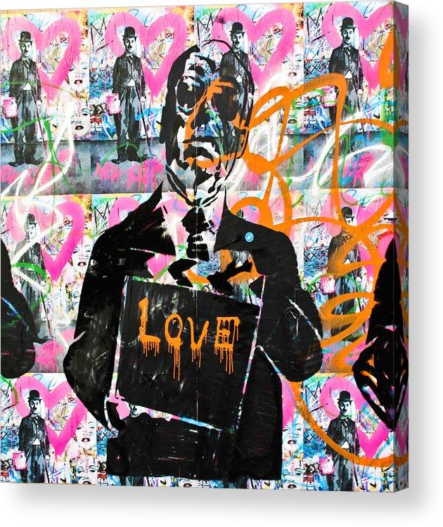 Darren Acrylic Print featuring the photograph Love Chaplin by Darren Scicluna