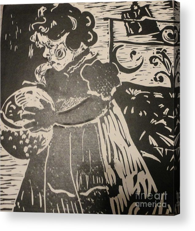 Lino Acrylic Print featuring the painting Girl's Play by PainterArtist FINs husband Maestro