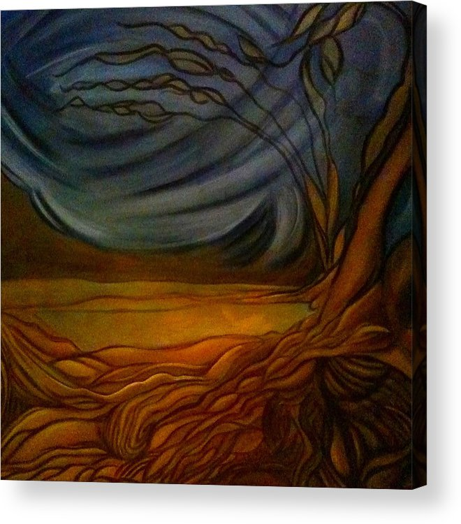 Landscape Acrylic Print featuring the painting Untitled by Juliann Sweet