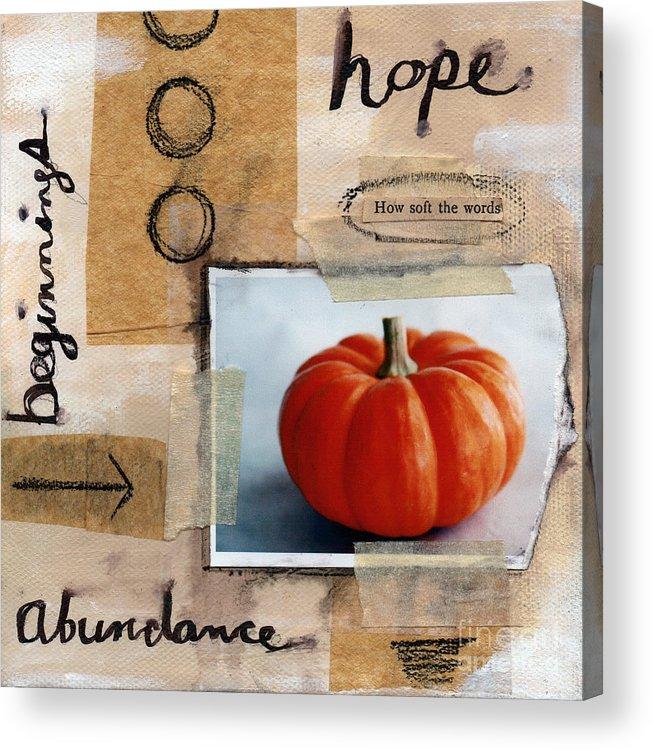 Pumpkin Acrylic Print featuring the painting Abundance by Linda Woods
