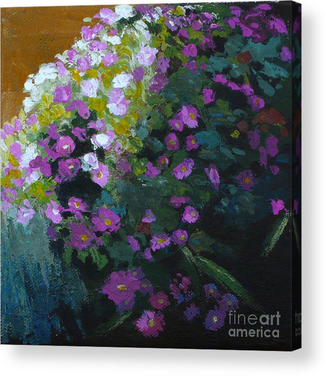Contemporary Floral Painting Acrylic Print featuring the painting Asters by Melody Cleary