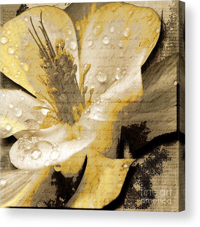 Acrylic Print featuring the mixed media Beauty IIi by Yanni Theodorou