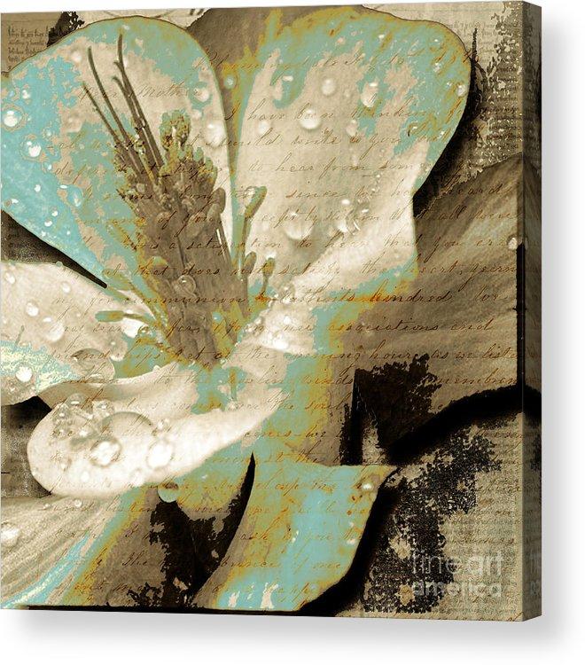 Acrylic Print featuring the mixed media Beauty V by Yanni Theodorou