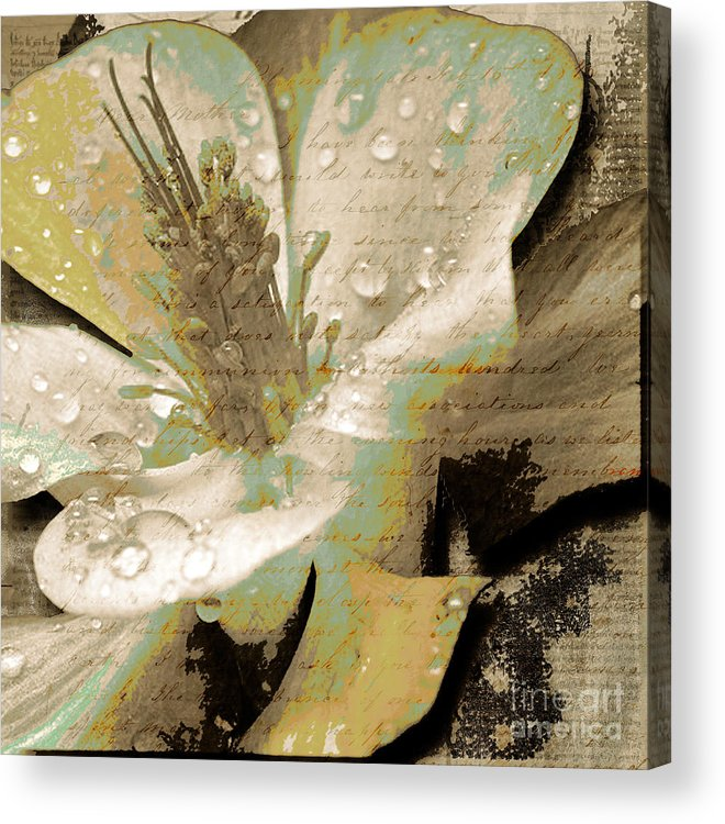 Acrylic Print featuring the mixed media Beauty Vii by Yanni Theodorou