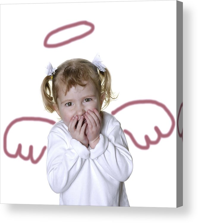 Adorable Acrylic Print featuring the photograph Little Girl Angel by Lane Erickson