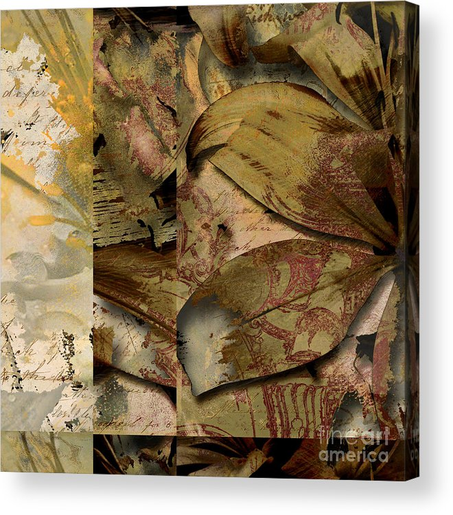 Acrylic Print featuring the mixed media Peace II by Yanni Theodorou
