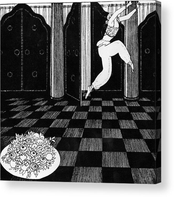 Ballet Acrylic Print featuring the painting Vaslav Nijinsky In Scheherazade by Georges Barbier