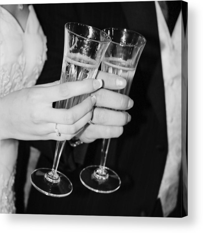 Champagne Acrylic Print featuring the photograph Wedding Toast by Valerie Loop