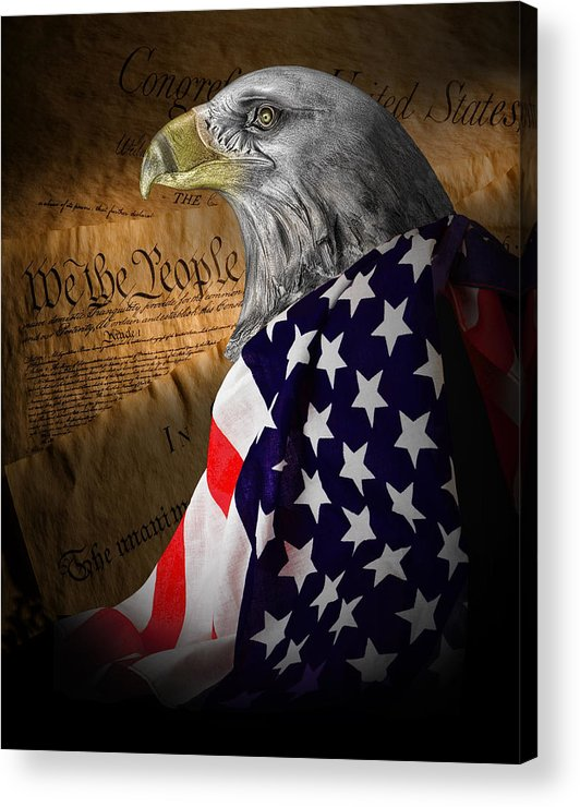 Eagle Acrylic Print featuring the photograph We The People by Tom Mc Nemar