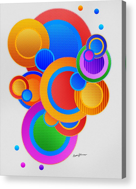 Abstract Acrylic Print featuring the digital art Circles by Anthony Caruso