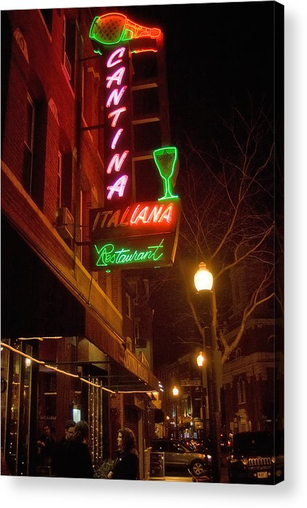 Boston Acrylic Print featuring the photograph Cantina Italiana by Joann Vitali