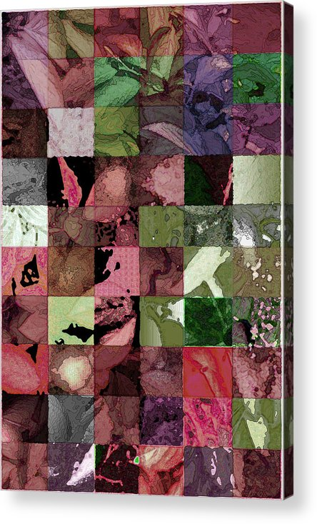 Abstract Acrylic Print featuring the digital art Quilt by Tom Romeo