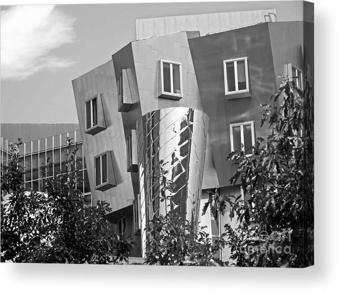 Beaver Acrylic Print featuring the photograph Massachusetts Institute Of Technology Stata Center by University Icons