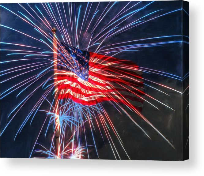 4th Acrylic Print featuring the digital art 4th Of July by Heidi Smith