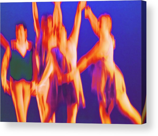 Ballet Acrylic Print featuring the digital art At The Ballet by Randall Weidner