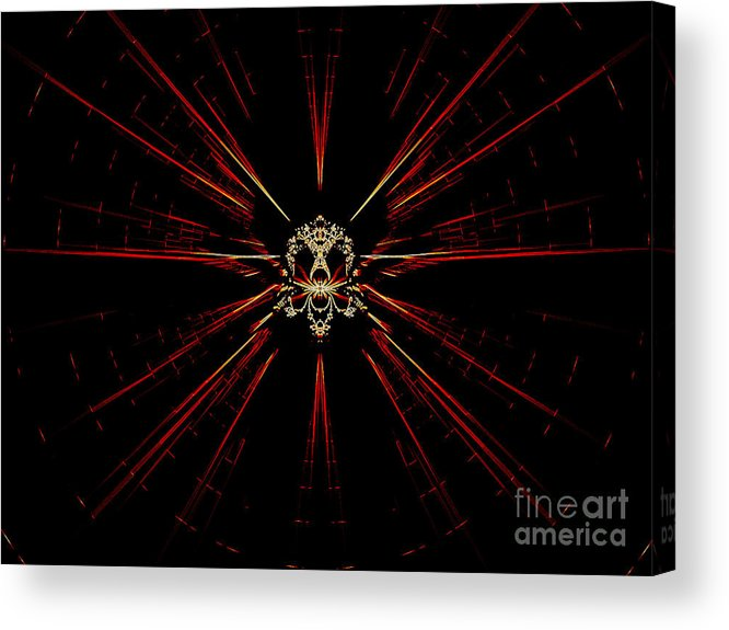 Digital Acrylic Print featuring the digital art At The Core by Renee Trenholm