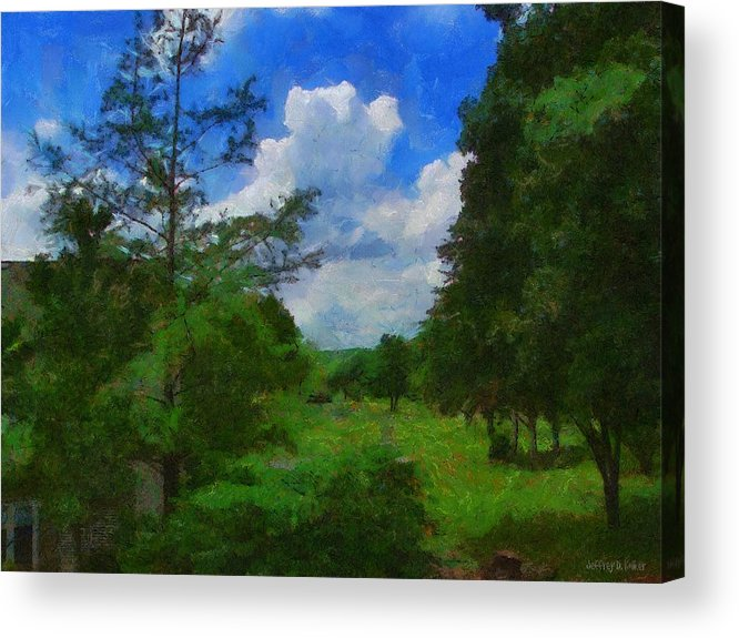 Back Yard Acrylic Print featuring the painting Back Yard View by Jeff Kolker