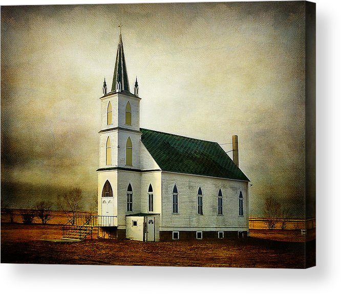 Church Acrylic Print featuring the photograph Canadian Prairie Heritage by Blair Wainman