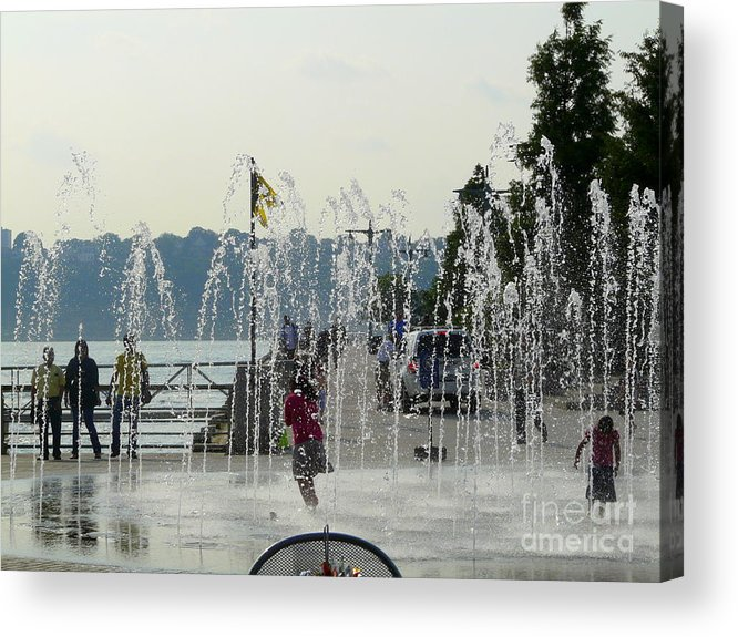 Summertime Acrylic Print featuring the photograph Cooling Off by Avis Noelle