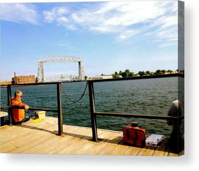 Fishermen Acrylic Print featuring the photograph Duluth Docks by Danielle Broussard