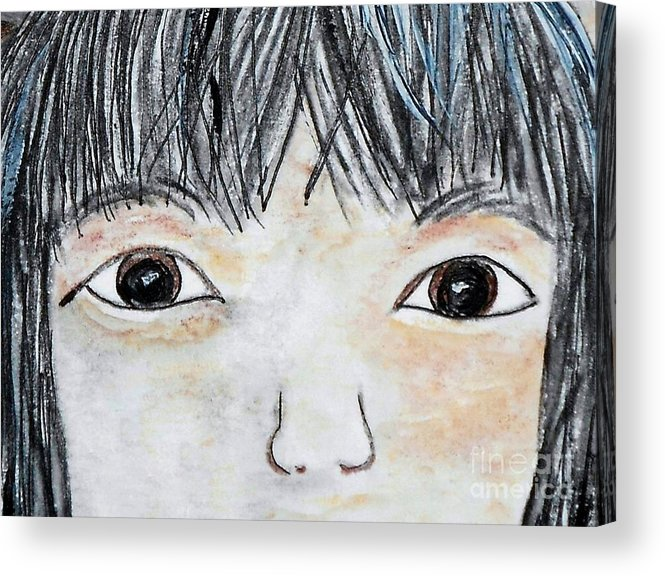 Big Acrylic Print featuring the painting Eyes Of Love by Eloise Schneider