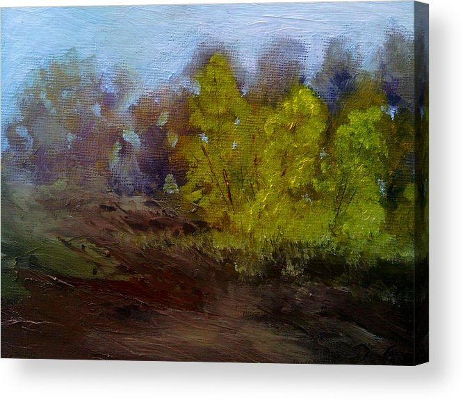 Landscape Acrylic Print featuring the painting Fall Color by Dwayne Gresham