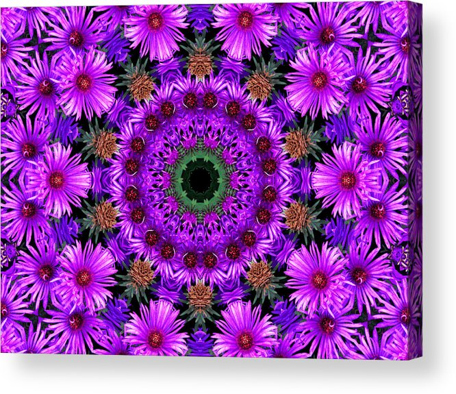 Kaleidoscope Acrylic Print featuring the photograph Flower Power by Kristie Bonnewell