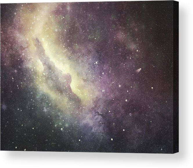 Space Acrylic Print featuring the digital art Halley 2 by Cynthia Lassiter