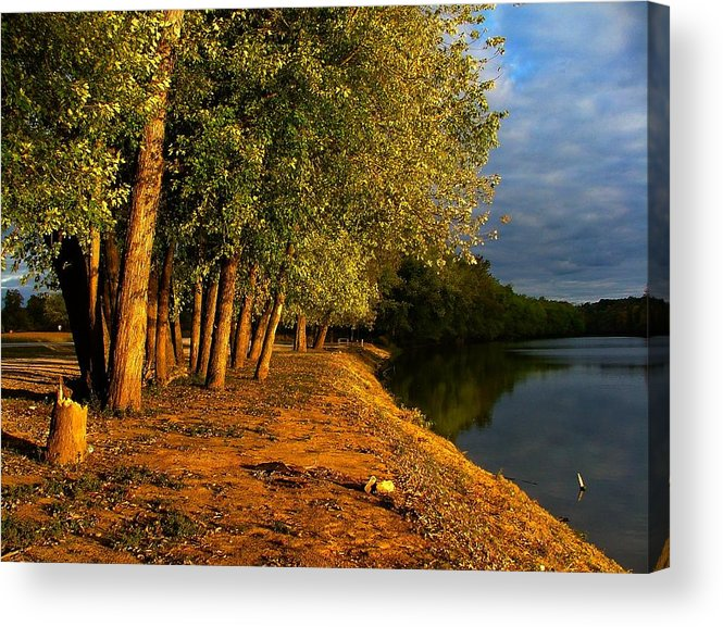 Evening Acrylic Print featuring the photograph Late Evening On White River by Julie Dant