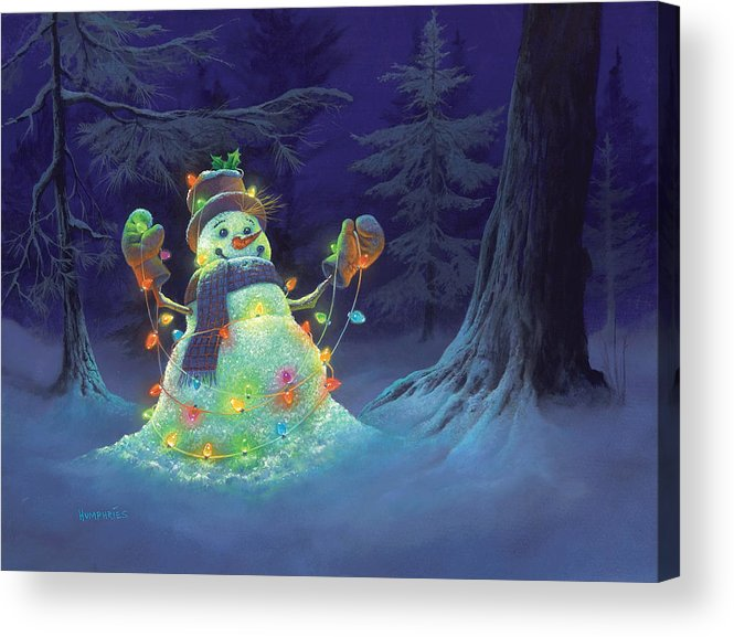 Michael Humphries Acrylic Print featuring the painting Let It Glow by Michael Humphries