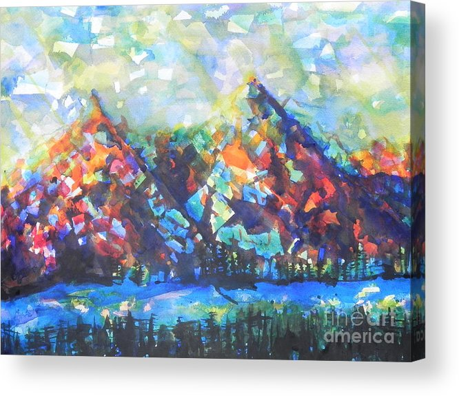 Watercolor Painting Acrylic Print featuring the painting My Vision Say It Out Loud by Chrisann Ellis